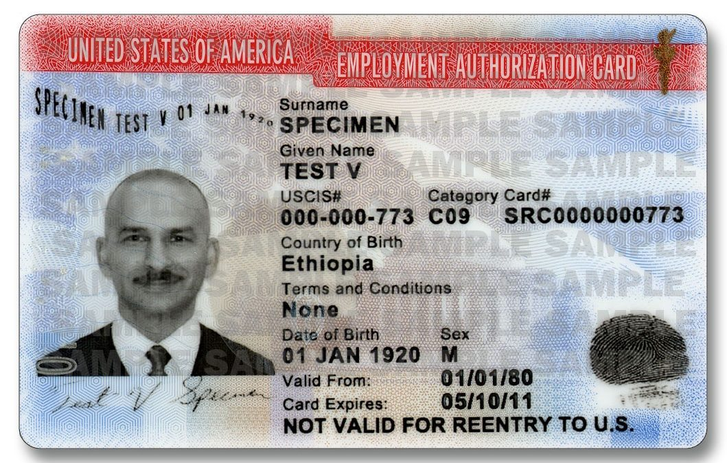 WORK PERMIT I-765, APPLICATION FOR EMPLOYMENT AUTHORIZATION DOCUMENT (EAD)