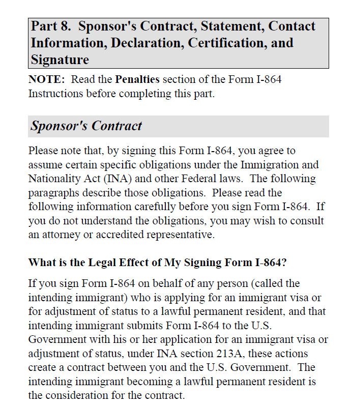 How to Fill Out Affidavit of Support, Form I-864
