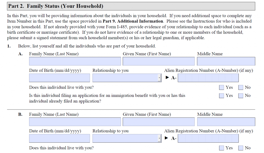 How to Fill Out Form I-944 - Step-By-Step Instructions [2020] 6