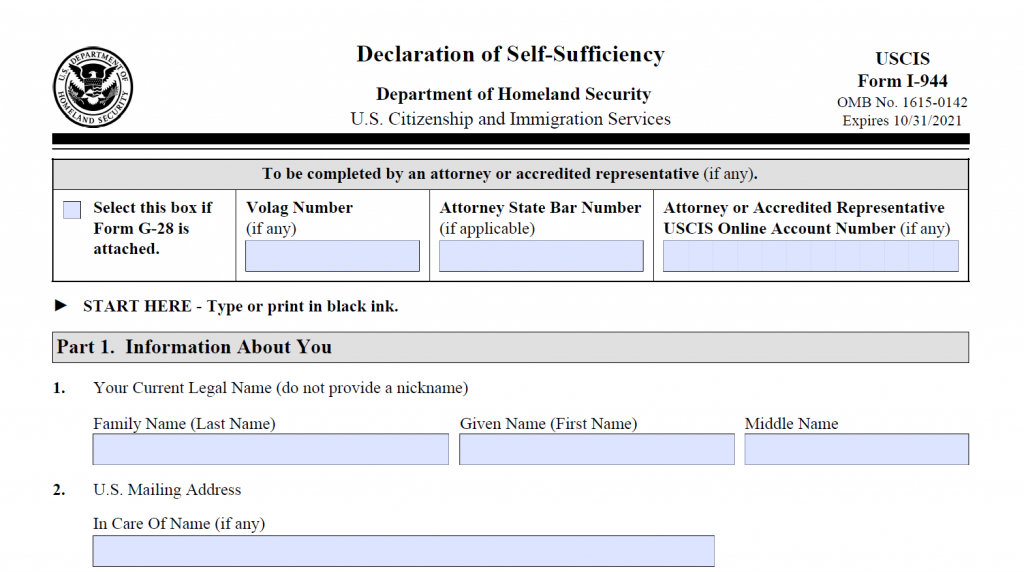 How to Fill Out Form I-944 - Step-By-Step Instructions [2020] 2